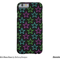 80's Neon Stars Barely There iPhone 6 Case ($45) ❤ liked on Polyvore featuring accessories and tech accessories