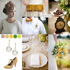 Gold, Taupe, Camel and Shades of Green
