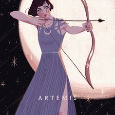 Greek Mythology Artemis Art Print by mohtz Artemis Art, Artemis Goddess, Artemis Tattoo, Greek And Roman Mythology, Greek Gods And Goddesses, Percy Jackson, Potnia Theron, Hunter Of Artemis, Roman Gods