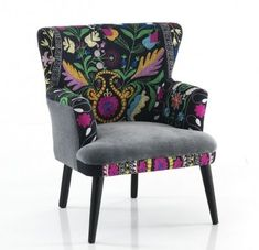 Wingback Chair, Armchair, Sofa, E Design, Accent Chairs, Grey, House, Furniture, Jewel