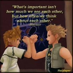 Oh Hayner one of the only boys that probably used more hair gel than Sora Roxas and Axel
