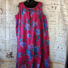 8d3a908995d Vintage Hilo Hatties Hawaiian Muu Muu Womens Size XL Lounge Beach Dress  Aloha  HiloHattie