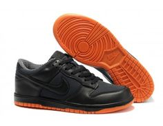 Mens Nike Dunk Low Shoes - Black/Orange - Wholesale & Outlet