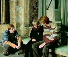 I love this part in the movie because it shows that Fred and George are capable of taking things seriously and they have a genuine love for other people. Oh, Weasleys.