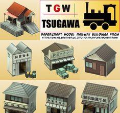 N-scale papercraft model railway buildings Plastic Model Kits, Plastic Models, Lego Star Trek, Tomb Raider Ii, Advance Wars, N Scale, Sanrio Hello Kitty, Paper Models, Scale Models