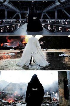 Darth Vader, Orson Krennic, Kylo Ren