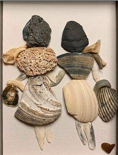 Village House Design, Pebble Pictures, Decoupage Box, Rock Art, Pasta, Glass, Stones, Bag, Painted Rocks