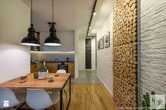 """Mieszkanie 64 m2 z """"loftowym"""" akcentem. - Jadalnia, styl nowoczesny - zdjęcie od 4ma projekt"""