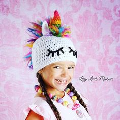 This listing is for a crochet PDF PATTERN ONLY for Rainbow Unicorn Hat, this is NOT a finished product. All patterns are written in standard US terms The pattern will include instructions to create sizes: Toddler (2T - 4T), Child (5 years - 10 years), Teen - Adult This pattern