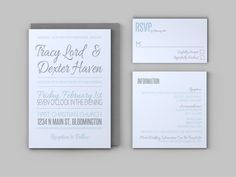 Casual Wedding Invitation Bundle  Invitation by LAShepherd on Etsy, $35.00