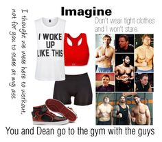 """#4 Dean Ambrose Imagine"" by truwhitewolf ❤ liked on Polyvore featuring Zensah, Private Party, adidas, imagine, WWE, divas and dean"