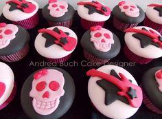 designer cupcakes   Wanna Rock Cupcakes!!!