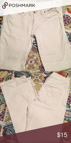 Gap white jeans Gap curvy flare white jeans. Very little wear. Size 8. GAP Jeans Flare & Wide Leg