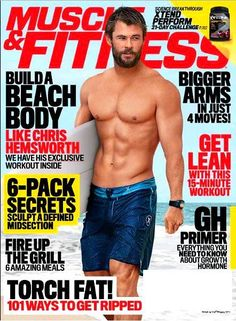 MUSCLE & FITNESS Magazine July August 2016 CHRIS HEMSWORTH, Build A Beach…