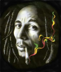Bob Marley Cigar Colorful