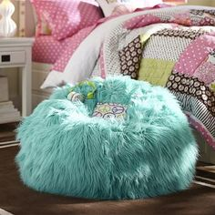 PB Teen Himalayan Pool Beanbag, Small, Slipcover + Insert at Pottery Barn Teen - Bean Bag Chairs - Lounge Ba Teen Lounge, Blue Lounge, Pb Teen, Living Room Carpet, Home Living, Teal Bean Bags, Blue Accent Chairs, White Chairs, Pink Chairs