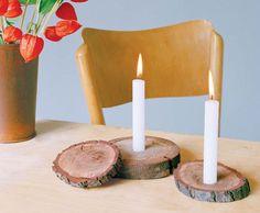DIY Rustic Candler Holders
