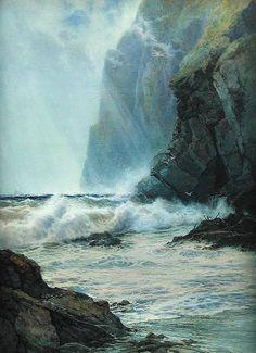catonhottinroof: Arthur Reginald Smith (1872 — 1934) Cornish Cliffs