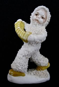 ca. 1930 Bisque Snowbaby with an Accordian.