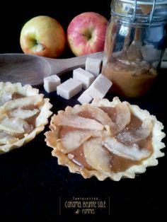 Tartelettes caramel au beurre salé et pommes / Recette