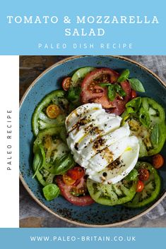 Tomato & Mozzarella Salad  #Paleo #food #recipe #keto #diet #MozzarellaSalad