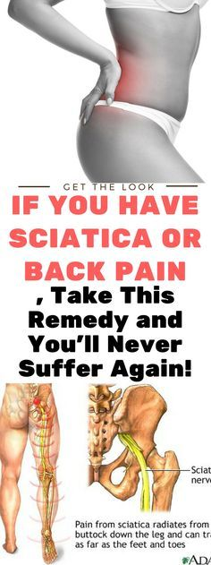 If You Have Sciatica or Back Pain. Take This Remedy and You'll Never Suffer Again,. Read this..!!