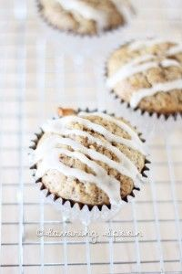Moist Vegan Banana Muffins with Sweet Drizzle Recipe
