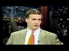 Peyton Manning's Debut On David Letterman in 1997