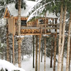 I would hope that there is some way to keep warm inside this treehouse?