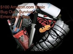 Under $100 Amazon.com Basic Emergency / Survival / Bug Out Bag - YouTube