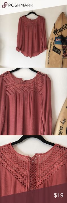 Tie Up Top This top is fall color tone, in perfect condition, and has a lace up detailed back Tops Blouses