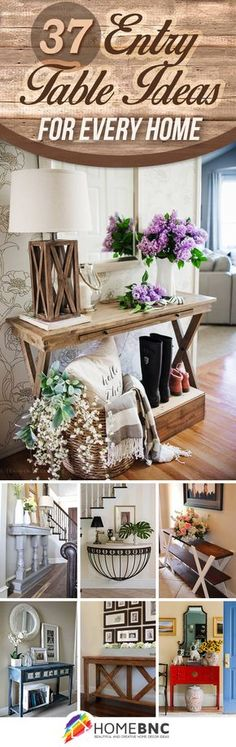 37 Eye-Catching Entry Table Ideas to Make a Fantastic First Impression #homedecor #home #diy #furniture