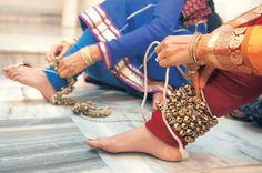 A Ghungroo is one of many small metallic bells strung together to form Ghungroos, a musical anklet tied to the feet of classical Indian dancers, and also Pakistani dancers.A string of ghungroos can range from 50 to greater than 200 bells knotted together.Ghunghroo sounds and weighs differently based on the composition and size. They have a dual purpose of providing music according to the beats and also add grace to the dance.