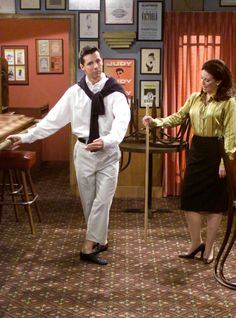 Still of Sean Hayes and Megan Mullally in Will & Grace