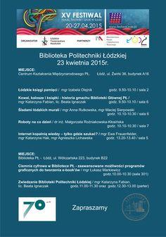 Imprezy przygotowane przez Bibliotekę Politechniki Łódzkiej na XV Festiwal Nauki, Techniki i Sztuki w Łodzi