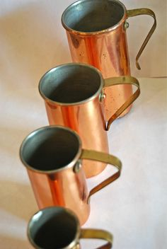 Set of 4 Vintage Copper Kitchen Measurements. $18.50   SOLD!