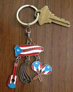 Puerto Rican Music Key Chain Plus