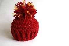 Baby hat crochet crochet baby beanie newborn pom by BambinoStore