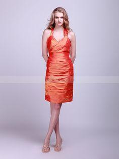 Gudrun - Tafetán V cuello vestido de damas de honor