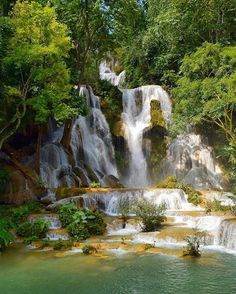 Kuang Si Waterfall is located in south of Luang Prabang, Laos. The site is maintained with walkways and bridges they allow you to climb up to the top where you can see the stream feeding into the falls and enjoy some natural beauty. Breathtaking cascades of water make the Kuang Si one of Luang Prabang's most popular tourist attractions.