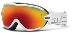 Womens Over Glasses Ski Goggles : Virtue : White Frame with Red Sol-X Mirror Lens $140