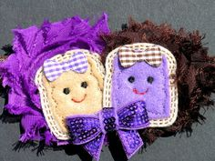 Peanut Butter and Jelly headbands by OneCharmingBoutique on Etsy