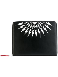 NEIL BARRETT lightning print wallet. #neilbarrett #wallet