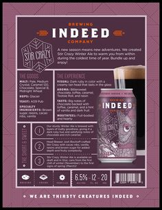 mybeerbuzz.com - Bringing Good Beers & Good People Together...: Indeed brewing Stir Crazy Winter Ale Cans Coming I...