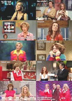 Kristen Wiig SNL characters. Target lady being my fav!!