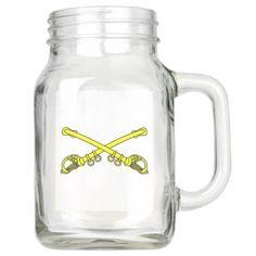 #customize - #Classic Sabers Mason Jar with Handle (20 oz) Mason Jar