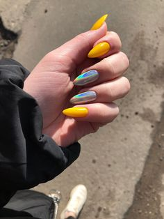 55 special summer nail designs for exceptional look best nails for spring 2019 5 - Nail Art Ideas Best Acrylic Nails, Acrylic Nail Designs, Best Nails, Hair And Nails, My Nails, Matte Nails, Stiletto Nails, Glitter Nails, Yellow Nail Art