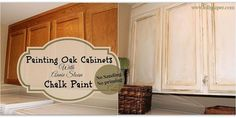 How to Paint Over Oak Cabinets Without Sanding or Priming! This is a Super easy Low cost High impact update to your home !