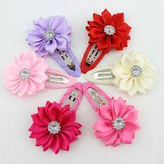 Nuevo 2017 de alta calidad de la flor poligonal baby & kids horquillas hairwear pinzas de pelo del bebé de la muchacha niños accesorios para el cabello