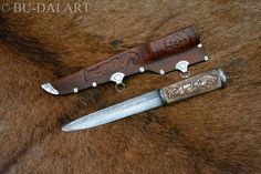 VIKING/SLAVIC pattern-welded steel blade historical by BUDAIART